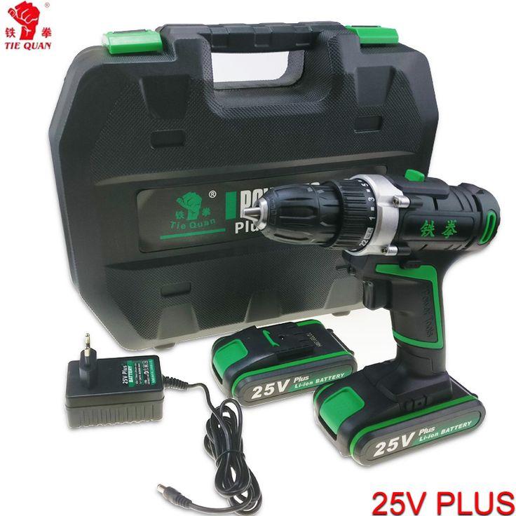 25V power tools Cordless Drill electric Drill Electric 2 Batteries Screwdriver Mini Drill electric drilling electric screwdriver купить на AliExpress
