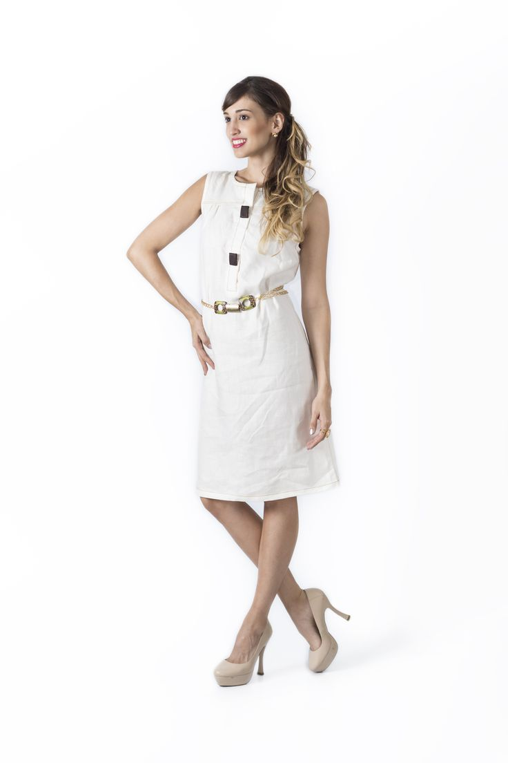 Bosque Paraíso Collection REF: Ve0013 Dress  SIZE: XS-1W Material :linen/rayon 70/30 Colors:black,green,yellow, Ivory