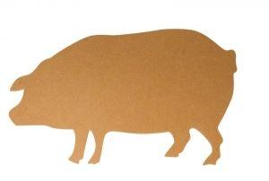 MDF-Schwein mit Aufhänger, 44x26 cm « MDF Rohlinge