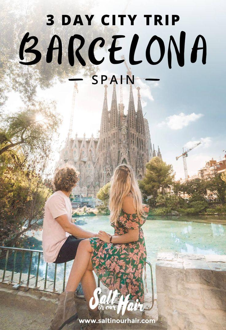 How to Spend a Barcelona City Trip (3 days) #barcelona #city #trip #citytrip #spain #sagradafamilia #parcguell #elborn #arcdetriomphe #gothicquarter #architecture #travelideas #travel #trip #weekend #casa #gaudi #icecream
