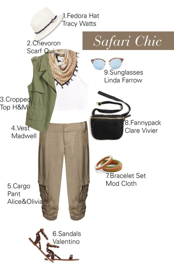 """""""How To Wear Rolled Cuff Cargo Pants For A Safari Chic Look And Style."""" by irishrose1 on Polyvore"""