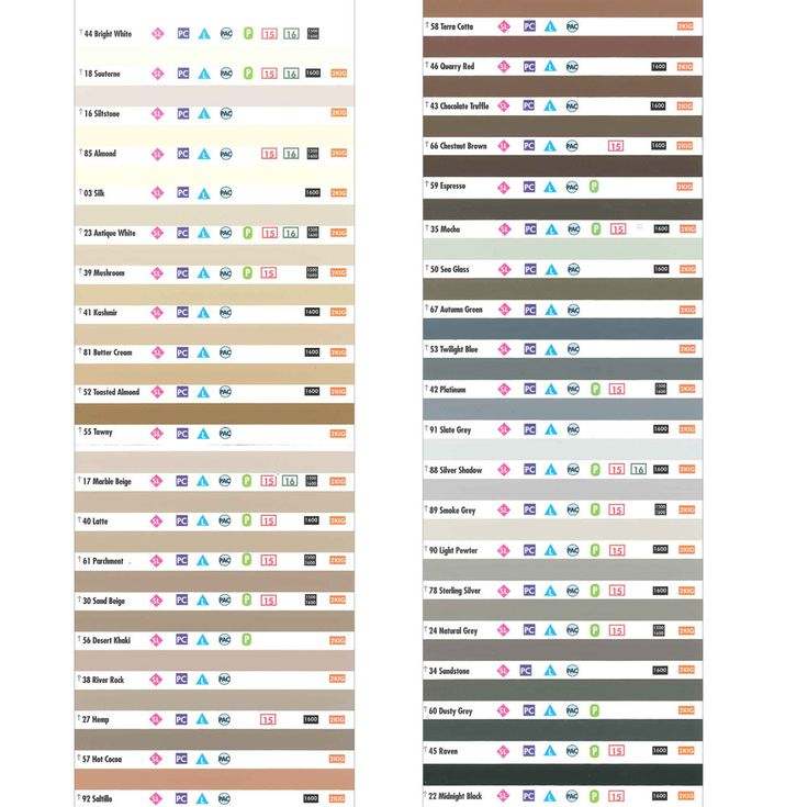 Grout Chart Laticrete paper color chart for grout