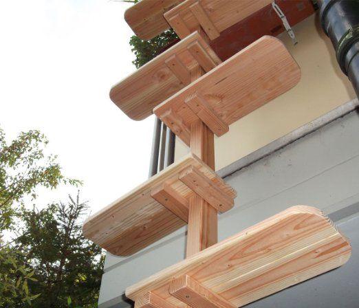 katzentreppe katzenleiter aus douglasie massivholz f r balkon 206 cm 5 tiere pinterest. Black Bedroom Furniture Sets. Home Design Ideas