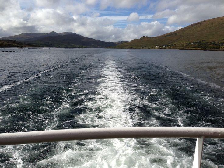 Heading back down Killary Harbour