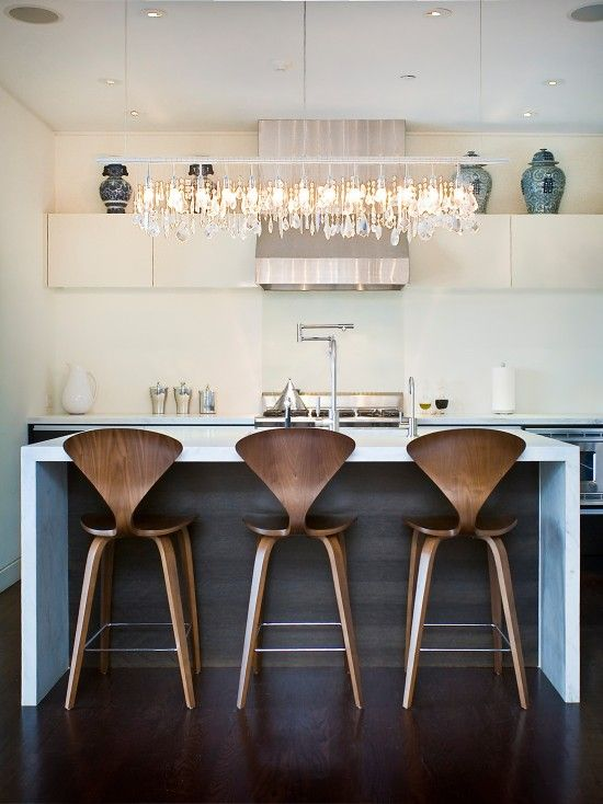 I love these chairs!  Cherner barstools are fabulous!  Mid century modern, sleek and timeless.