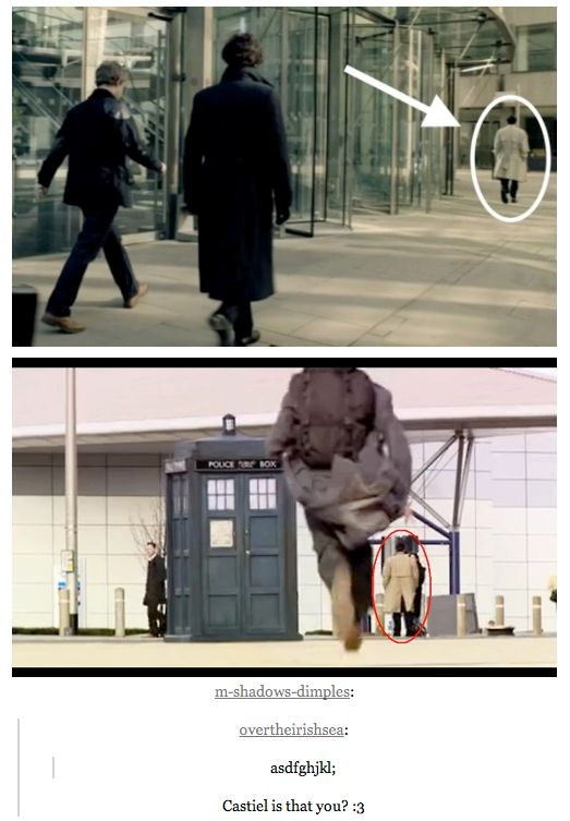 SuperWhoLock is now canon.  PINNING SO I CAN GO BACK AND VERIFY THIS. I've been fooled by photoshop before.