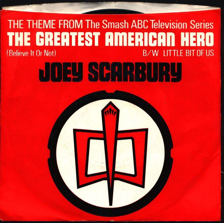 GREATEST AMERICAN HERO, Joey Scarbury,William Katt,Robert Culp, Theme Song,Vinyl,Single,Record,Picture Sleeve,Elektra/Asylum Records