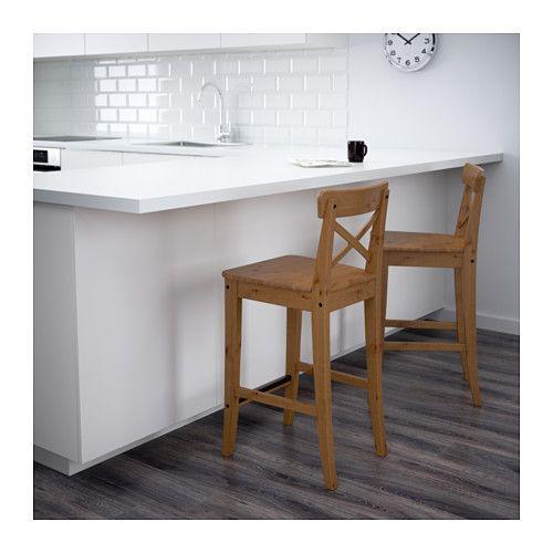 ingolf tabouret de bar dossier 63 cm ikea coffee. Black Bedroom Furniture Sets. Home Design Ideas