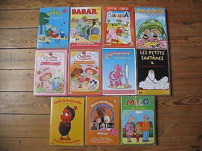 11 Dvd Babar-Maya L'abeille -Barbapapa -Petit Poney -Charlotte Aux Fraises...