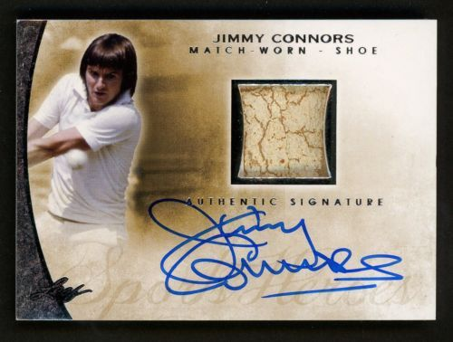 2014 Leaf Sports Heroes Tennis Jimmy Connors Match-Worn Shoe Patch AUTO