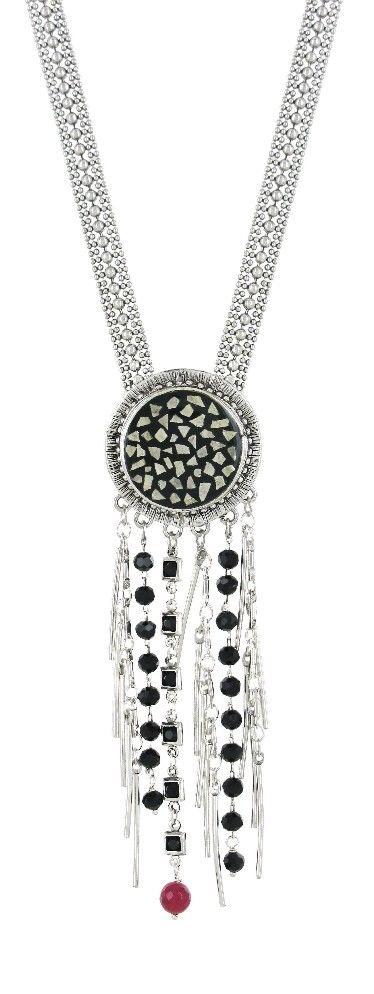 Collier TARATATA. Bijoux créateurs. En vente en boutique et sur notre site internet : http://www.bijouterie-influences.com/search.php?search_query=Taratata+capeline