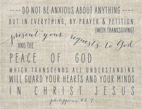 Philippians 4:6-7 via #JonesDesignCompany