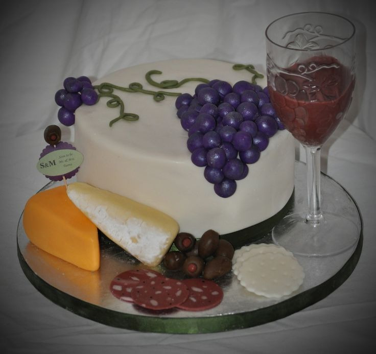 Wine Theme Bridal Shower Cake
