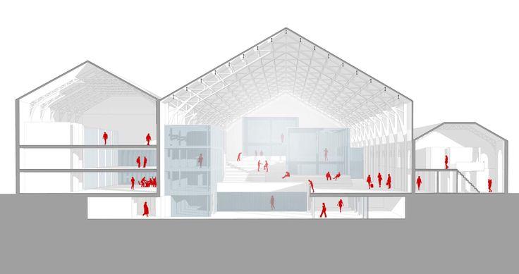 Proyecto para ACELERADOR DE STARTUPS en la antigua Estación de Delicias de Madrid. Proyectos 8 _ ETSAM _ PAULO FERNÁNDEZ
