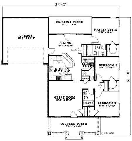 single story house plan