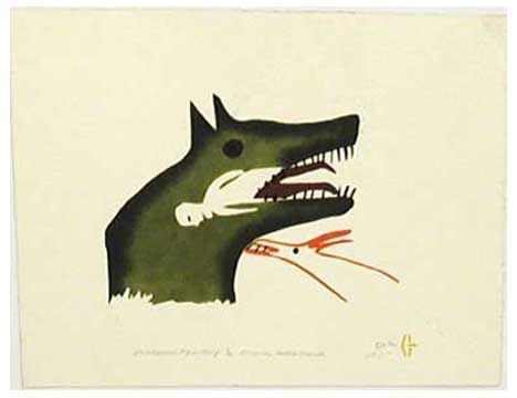 inuit art  Photo from Labrador Institute Collection