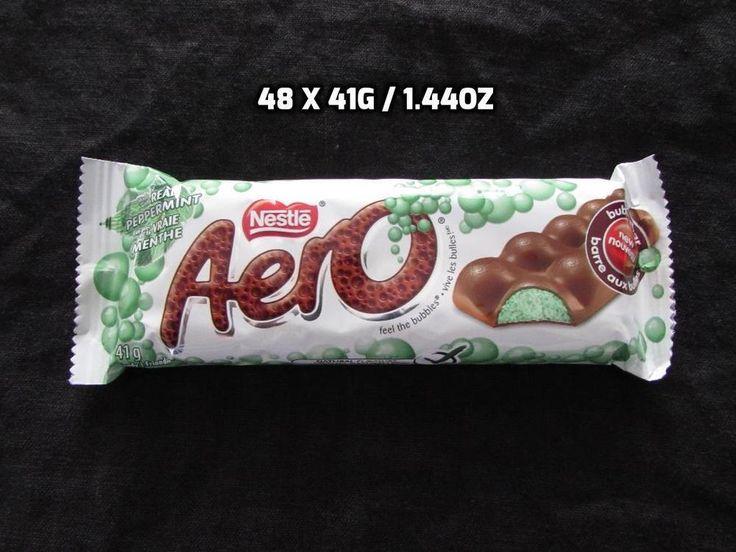 48 X 41g/ 1.48oz Nestle Mint Aero Bars Guaranteed Fresh Made in Canada #Kraft