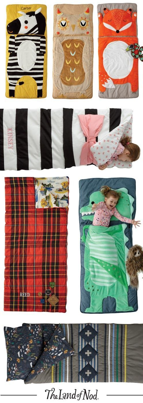 Bring the comforts of home to any sleepover with cozy and stylish kids sleeping bags. Featuring a variety of colors and styles, they're adorned with intricate embroidery, playful prints and more. They're even perfect for the living room so the whole family can have an impromptu slumber party.