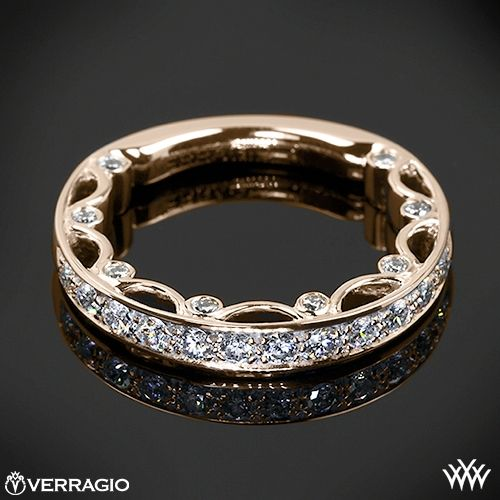 Verragio wedding band in rose gold