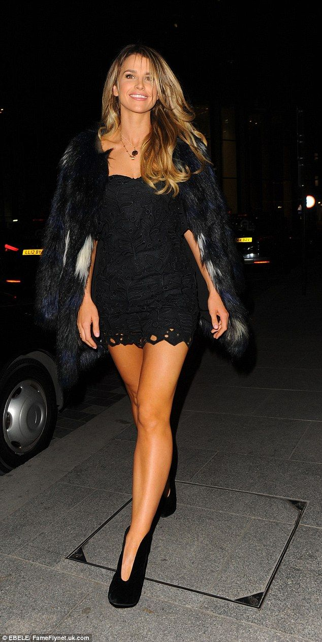 Vogue Williams flaunts her enviably toned legs in tiny ...