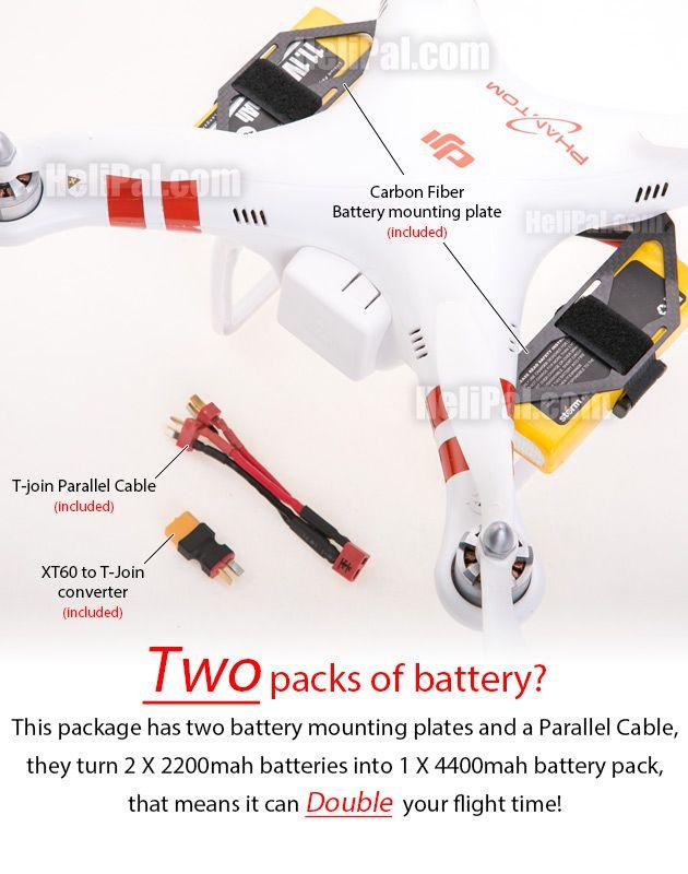 DJI Phantom 1 Parts Carbon Fiber External Battery Mount for DJI Phantom - HeliPal