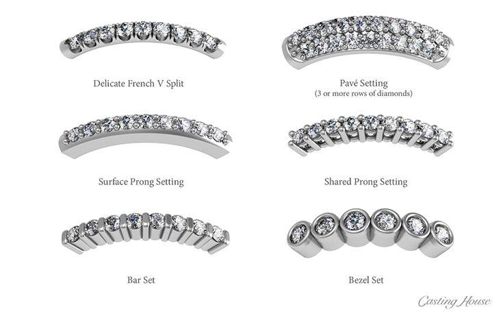 Diamond Melee Setting Styles 1 Diamond Rings Jewelry