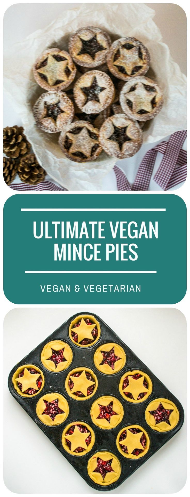 These 'Ultimate Vegan Mince Pies' are made with incredibly rich and crumbly dairy-free cream 'cheese' pastry, your guests won't believe these are vegan!