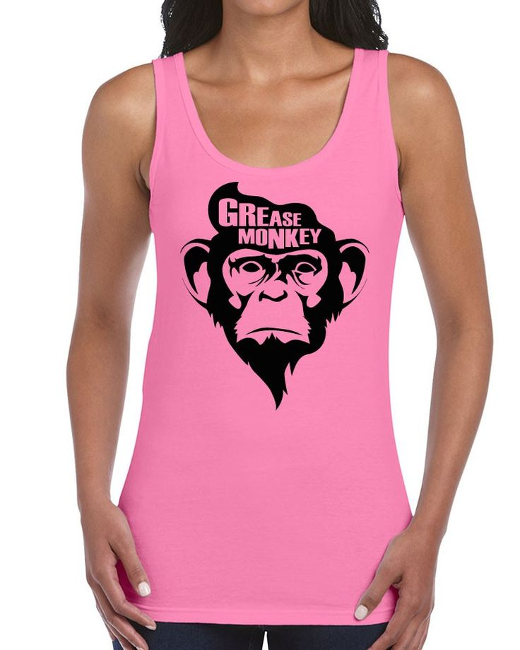Awesome Tshirts - Grease Monkey T-Shirt - Ladies Pink Tank Top - $35