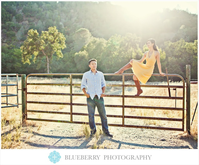 Beautiful Outdoor Rustic Ranch Engagement Photography