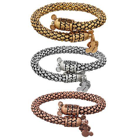 Mickey Mouse Metal Wrap Bracelet by Alex and Ani | Disney Store