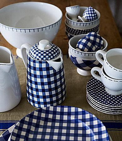 At Home with Marieke Blue Dinnerware #Dillards