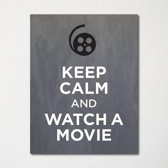 Ruhe bewahren und sich den Film anzusehen  8 x 10 von LetsKeepCalm