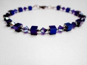 Hematite & swarovski crystal bracelet