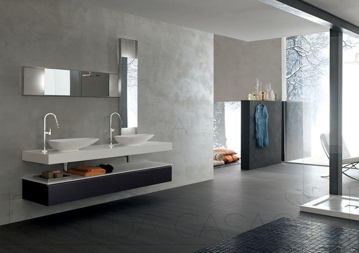 Arredo Bagno doppio lavabo top 10cm Yago29 | Prezzo ARREDACASAOnLine