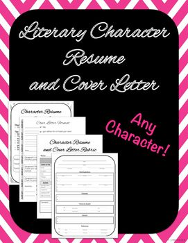 This Common Core assignment gives students the opportunity to complete a character analysis in the form of a resume and cover letter.  Any literary character will work with this product.  While writing from the perspective of a literary character, students are guided through the components and format of a cover letter and resume.