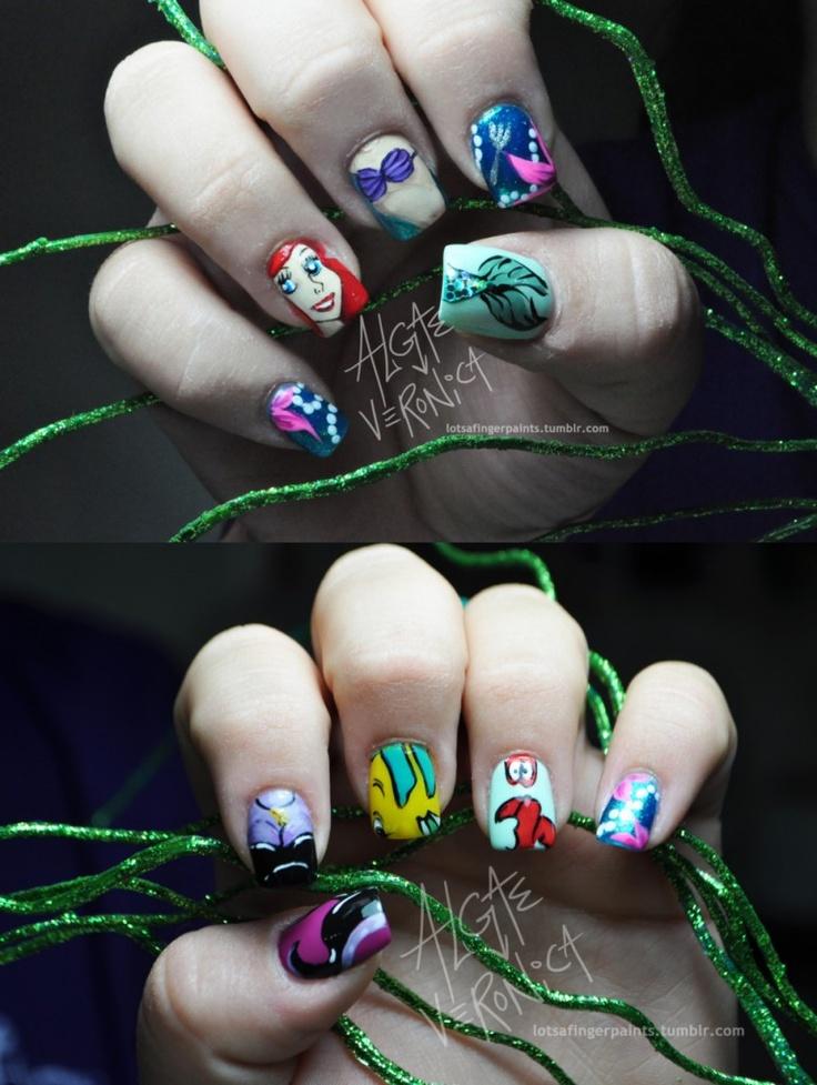 cool disney nails