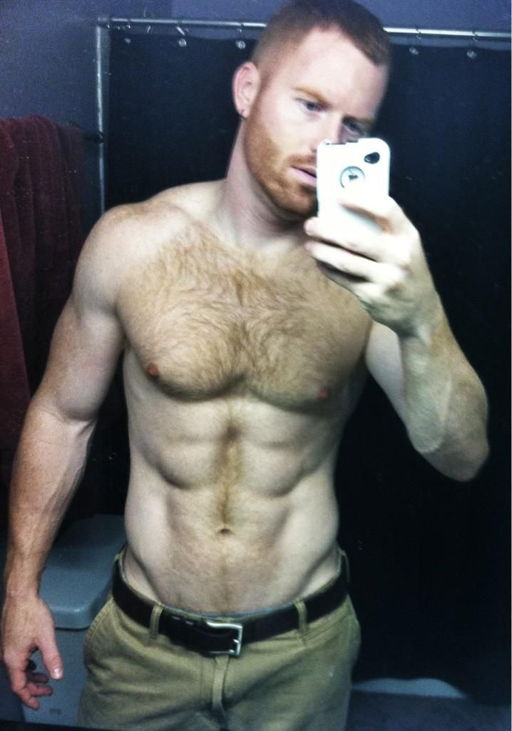 Ugly hairy redhead amateur