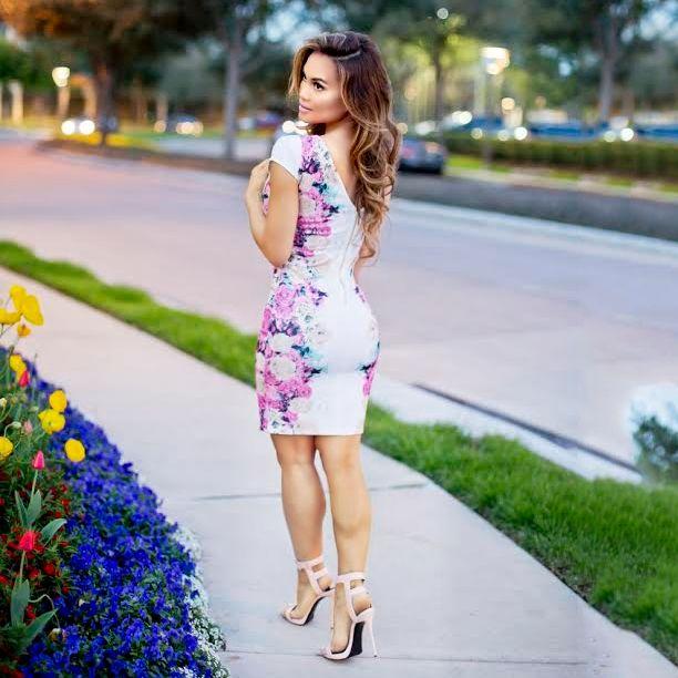 b7ef86414c5 ... check out daphne joy wearing our kardashian kollection for sears white  floral low back dress. ...
