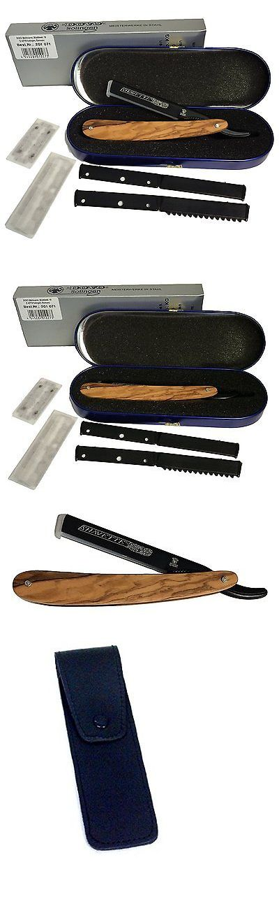 Straight Razors: Dovo Shavette Razor With Wood Handle 201071 BUY IT NOW ONLY: $85.61