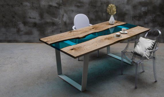 Live Edge Dining Table Epoxy Resin Table Epoxy Ash Table Ash Table Live Edge Table River Table River Table Resin Table Resin Table Live Edge Dining Table Rustic Dining Furniture