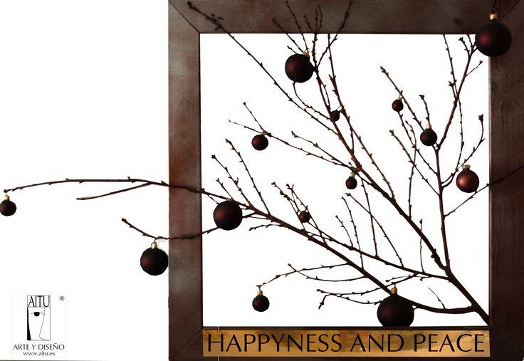 #AITU #Arte y #Diseño le desea una Feliz Navidad Sorprendente cuadro (Navidad – Ramas cuatro) como alegoría a la #navidad. Más obras de #arte y elementos navideños en AITU  AITU Arte y Diseño wishes you #Merry #Christmas! Amazing painting (Navidad - Ramas Cuatro) with a Christmas allegory.