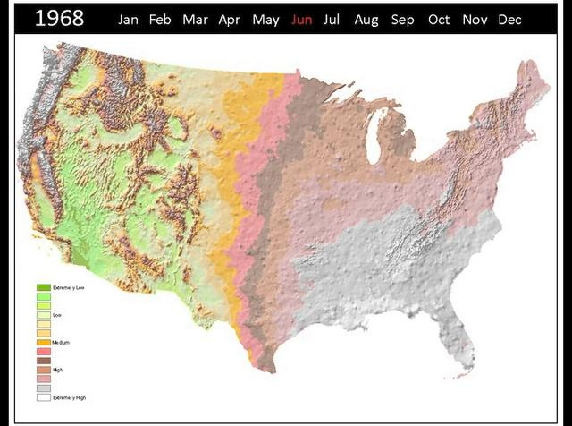 Ten Years of Accumulating Precipitation by Bill Wheaton. Precipitation falls every day somewhere in the U.S.  Geospatial data of these daily rainfall amounts is available and was used to generate the 'Ten Years of Accumulating Precipitation' video.
