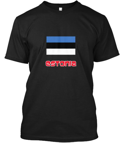 Estonia Flag Retro Red Design Black T-Shirt Front - This is the perfect gift for someone who loves Estonia. Thank you for visiting my page (Related terms: I Heart Estonia,Estonia,Estonian,Estonia Travel,I Love My Country,Estonia Flag, Estonia Map,Estonia  #Estonia, #Estoniashirts...)