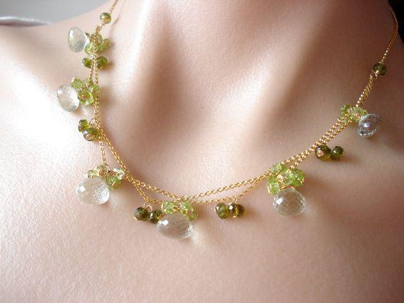 RESERVED for TrinhGreen dream necklacegreen