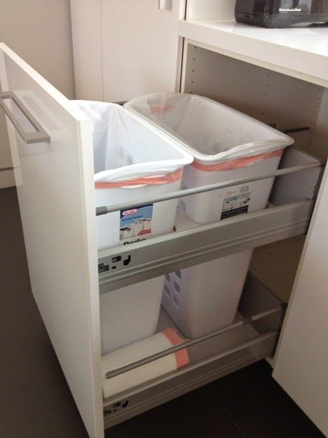 Non Flimsy Full Height 24 Wide Recycling And Trash Cabinet Ikea Hackers