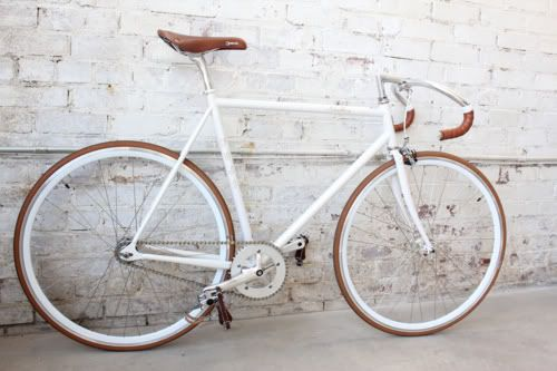 Drops-only bar-tape.  Also, matching saddle, wheels, bar-tape and pedal straps.  Sexy.