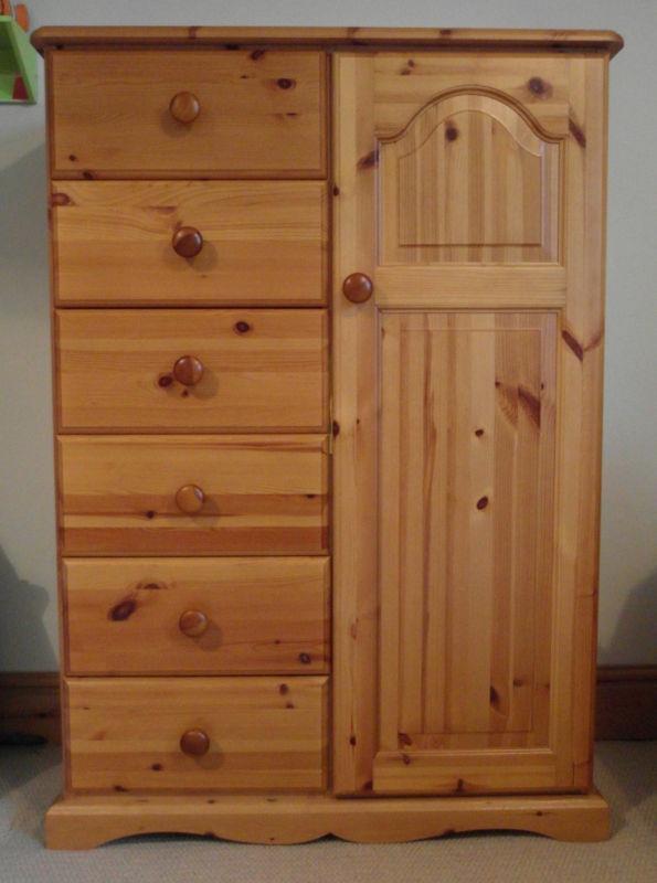 pine tallboy wardrobe 2