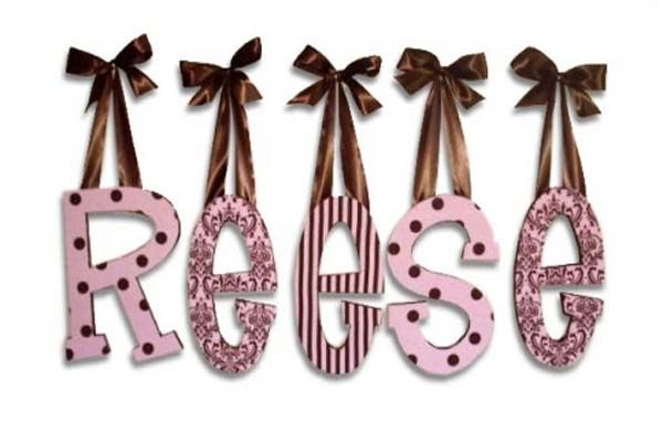 Choosing Words For Making Wooden Letters For Baby Room - http://homeplugs.net/choosing-words-for-making-wooden-letters-for-baby-room/