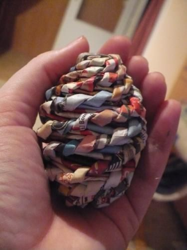 paper roll woven eggs _TUTORIAL_