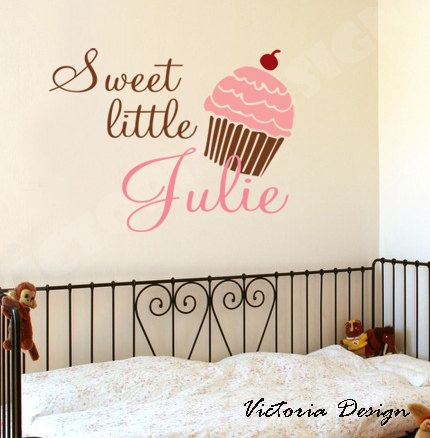 Cupcake personalized wall decal